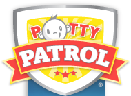 Potty Patrol toilet training diapers Logo