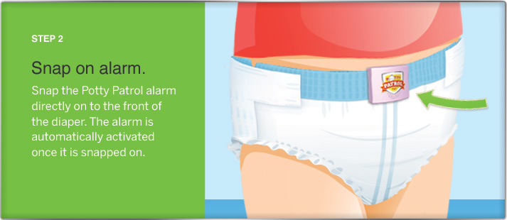 How Potty Patrol toilet training alarm diapers works